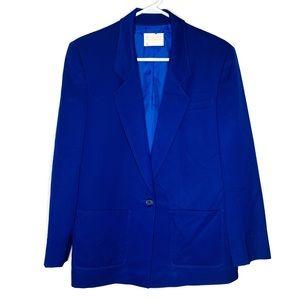 Pendleton Vintage Blue Single Button Blazer 8